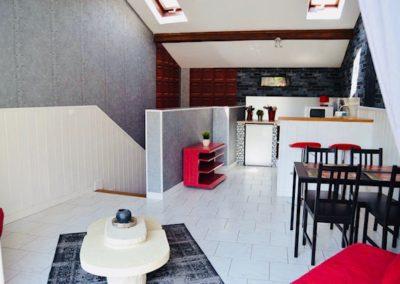 Cuisine, salle à manger du Gîte de l'écluse du domaine de Vandenesse et Spa
