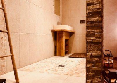 Salle de Bain de la Chambre Osiris du domaine de Vandenesse et Spa